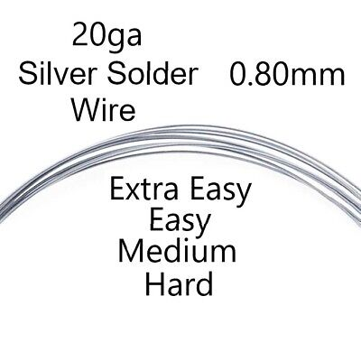 Silver Wire Solder Extra Easy Medium Hard Soldering Jewellery Sterling 20ga