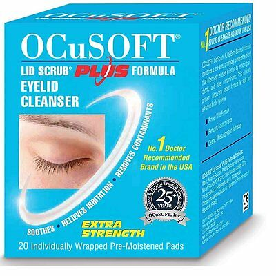 Ocusoft Lid Scrub Plus (20 Individually Wrapped Pre- Moistened Pads only)