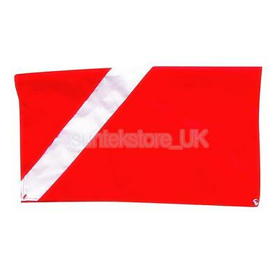 Diver Down Flag, Red and White Flag, Scuba Flag, Maritime Signal Flag 20x24""