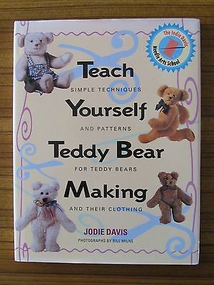 Teach Yourself Teddy Bear Making - Patterns Clothes Jodie Davis Hc (Dust Jacket)