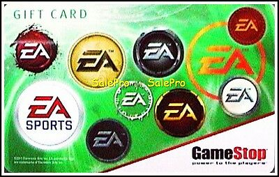 Gamestop 2011 Electronics Art Inc Ea Sports Limited Rare Collectible Gift Card