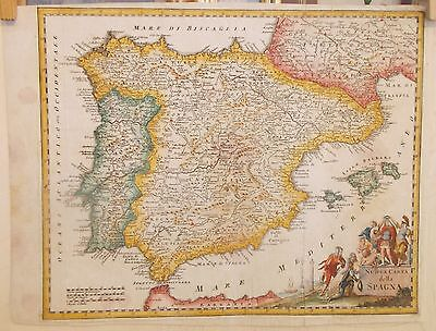 Maps carta geografica Spagna Isaak Tirion ?