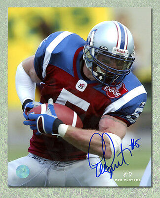 Eric Lapointe Montreal Alouettes Autographed 8x10 Photo