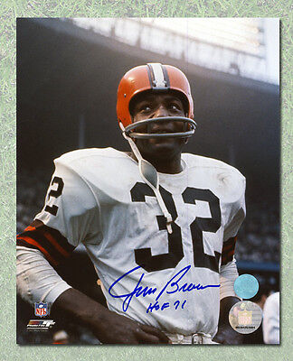 Jim Brown Cleveland Browns Autographed Rookie Close-Up 16x20 Photo