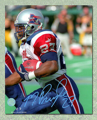 Mike Pringle Montreal Alouettes Autographed CFL Football Close Up 8x10 Photo