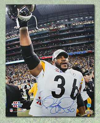 Jerome Bettis Pittsburgh Steelers Autographed Superbowl XL Victory 16x20 Photo