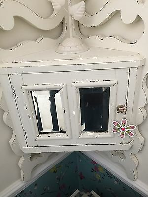 Small Edwardian corner cupboard painted