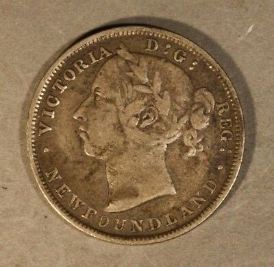 1888 Newfoundland 20 Cents Circulated              ** FREE U.S. SHIPPING **