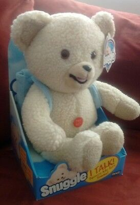 Talking Snuggle Bear In Box with Tag EXTREMELY RARE Backpack Variation