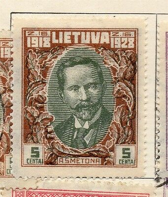 Lithuania 1928 Early Issue Mint Hinged 5c. 184609