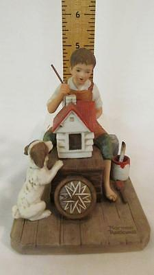 """A Dollhouse for Sis 1980 Norman Rockwell Museum 5"""" Figurine, Made in Japan Nice"""