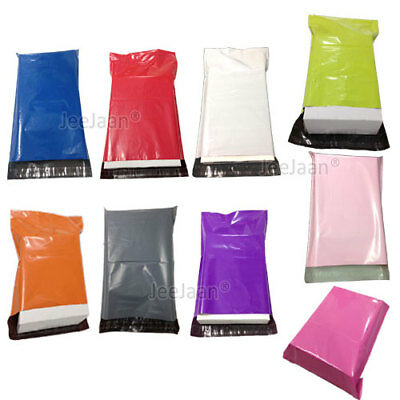Coloured Mailing Bags Plastic Mail Post Postage Polythene Strong Seal 4 Sizes