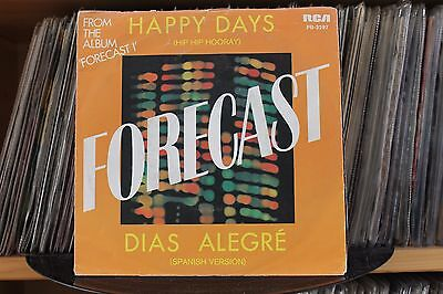 "7"" Single Forecast - Happy Days (Hip Hip Hooray)"