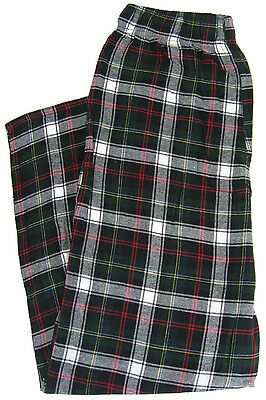 NEW Mens Flannel Lounge Pants Green Red Plaid 100% Cotton Pajamas Sizes S-3XL