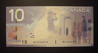 Canada BC-68aA 2007 $10 Replacement Note BTL2348771 - ChUnc