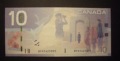 Canada BC-68bA 2008 $10 Replacement Note BFH1425095 - GemUnc