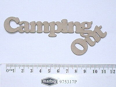 Chipboard -  Camping Out - Crafty Originals