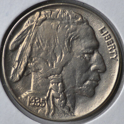 1935 5C Buffalo Nickel Philadelphia Gem Brilliant Uncirculated Unc BU