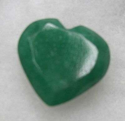 Beautiful 15Ct Heartshape Natural Earth Mined  Emerald Gem Stone From Brazil