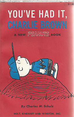 YOU'VE HAD IT, CHARLIE BROWN  Charles M Schulz  1st Ed PB Holt Reinhart Winston