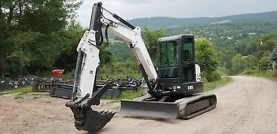 2013 Bobcat E45 Excavator Low Hrs Cab A/c Hydraulic Thumb!  Extendahoe!