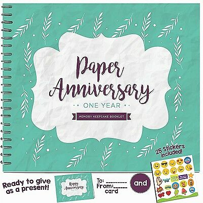 1st Wedding Anniversary Memory Booklet For Couples by Unconditional Rosie - A...