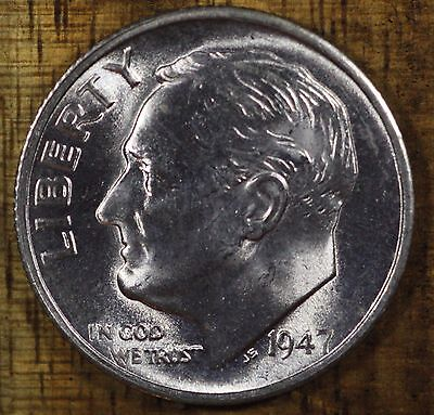 1947 S Roosevelt Dime CH BU LUSTER! 90% Silver US Coin