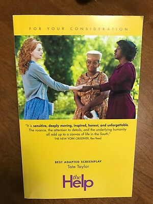 The Help ~Screen Play by Tate Taylor ~ Autographed by Tate Taylor ~All Star Cast