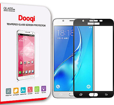Dooqi Full Coverage Tempered Glass Screen Protector for Samsung Galaxy J7 (2017)