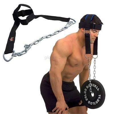 Gym Weight Lifting Head Neck Harness Straps Fitness Strength Training Belt