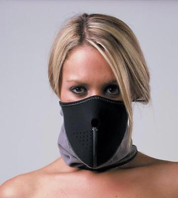 Oxford Motorbike Motorcycle Toasty Face Mask Neoprene & Fleece black/grey