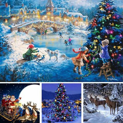 5D DIY Christmas Diamond Painting Kit Embroidery Crafts Home Room Craft Decor