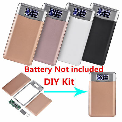 30000mAh Quick Charge Type-C Micro USB Power Bank DIY Kit LCD Battery Charger ZZ