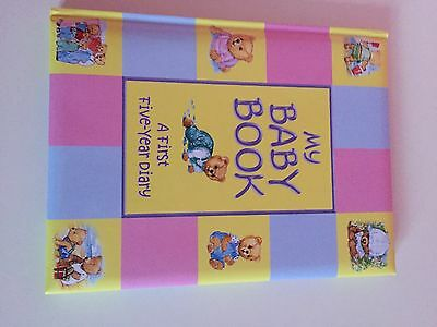 Baby record book/ diary first 5 years keepsake.