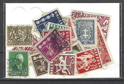 Lituanie avant 1940 - Lithuania before 1940 50 timbres différents
