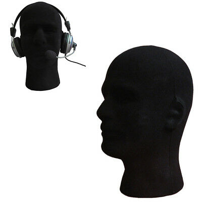 BL_ Male Foam Flocking Head Glass Headset Wig Display Stand Tool Mannequin Relia