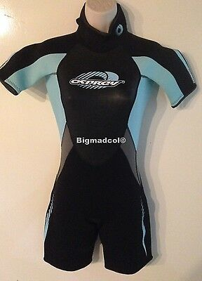"Osprey womens Shorty Wetsuit Extra Small XS Chest 34"" H 155-160 sky"