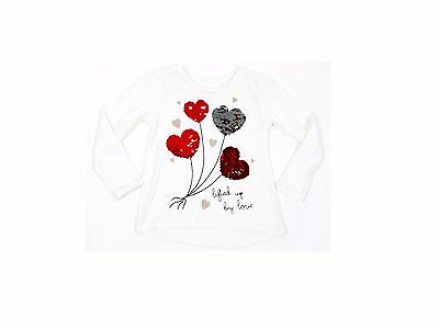 Lifted Up By Love Magic Changing Colour Sequin Girls T-Shirt Top 4 - 10 Years