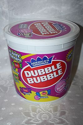 America's Original DUBBLE BUBBLE FRUIT FLAVORED BUBBLE GUM 300 pieces 1.35kg box