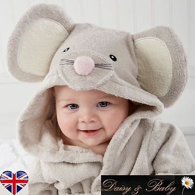 baby kid dressing gown bath towel boy girl hooded children babies beach Mouse UK