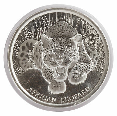 2017 $1 1oz Silver Ghana African Leopard .999 BU (Proof-Like)