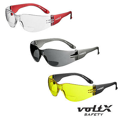 voltX GRAFTER Bifocal Lightweight Safety Reading Glasses CLEAR, YELLOW & SMOKE.