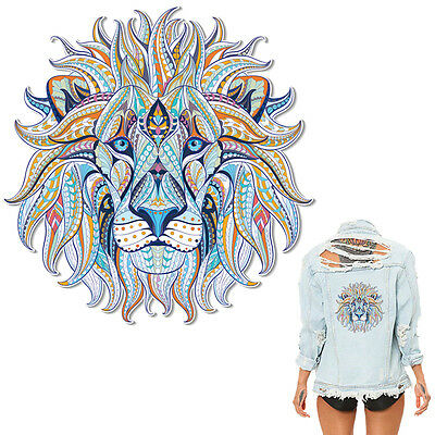 Heat Transfer Lion Patch Iron On Patches For Clothes DIY Decoration Printing