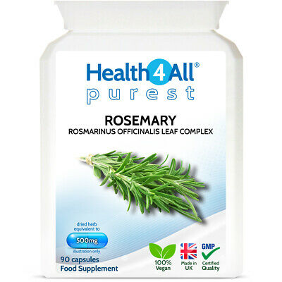 Rosemary 500mg 90 Capsules | LEARNING & MEMORY NATURAL BOOSTER