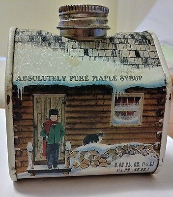 Vermont Absolutely Pure Maple Syrup Tin (empty) 1984 New England Container Co.
