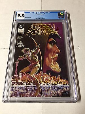 Green Arrow 1 Cgc 9.8 White Pages 1988