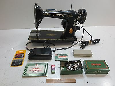 VINTAGE 40 SINGER Sewing Machine W Foot Pedal Accessories Custom 1953 Singer Sewing Machine
