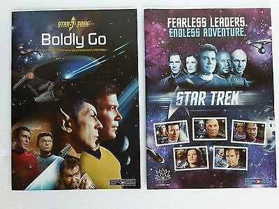 2 Star Trek Stamps Promo Books / Pamphlets Canada Post TV Series, Movies