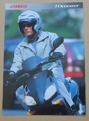 YAMAHA MAXSTER 6 page side Brochure printed Jan 2002