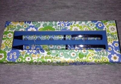 NEW Vera Bradley English Meadow Perfect Match Pen & Pencil Set *RETIRED pattern*
